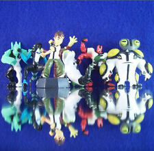 NEW RETIRED BEN 10 MINI FIGURE SET OF EIGHT 8 FIGURES CUP CAKE TOPPER ALIENS