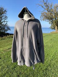 Vtg Nike Center Swoosh Hoodie Sweatshirt Pullover Gray RARE XXL Travis Scott 2X