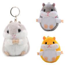 Mini Hamster Doll Plush Key Ring Key Chain Handbag Charm Pendant Car Decor Gifts