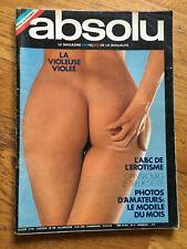 REVUE EROTIQUE vintage.ABSOLU no. 9 Gainsbourg tireur d elite