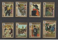 SOUTH ARABIA # M: 142A-149A MLH  FAMOUS PAINTINGS