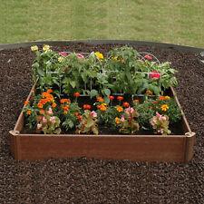 RAISED GARDEN BED KIT 42 x 42 Outdoor Patio Yard Grow Box Plant Growing Boxwood
