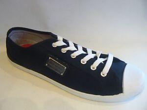 FIRETRAP Charlie Canvas Pumps / Deck Shoes Black Mens UK Size 10 NEW