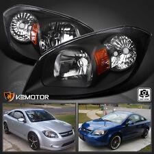 05-10 Chevy Cobalt 07-09 Pontiac G5 05-06 Pursuit Black Headlights Headlamps