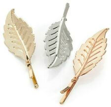 Women's Hair Clips Snap Hairpin Pearl Girls Clip Slide Grips Barrette Leaf