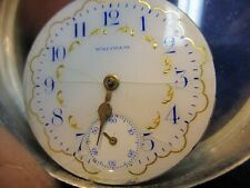 watch dial w ticking movement 0s Waltham multi color pocket