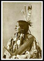 ⫸ 935 Postcard Running Antelope, Sioux Chief - 1872 Photo Alexander Gardner –NEW