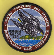 Pa Pennsylvania Game Fish Commission NEW WTFW 1996 Peregrine Falcon Hawk Patch