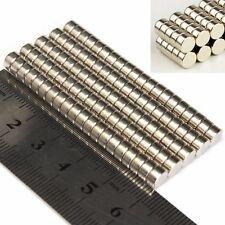 100PCS N52 6x3mm Puissant Aimant Rond Terres Rares Néodyme Magnet Magnétique