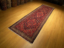 3.5 x 12.5 Hand Knotted Antique Persian Sarab Wool Runner Excellent Condition