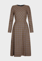 Ex Hobbs Sophia Wool Blend Checked Tweed Dress Size 6 - 18 (W3.27)