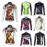Women Cycling Long Sleeve Jersey Comfortable Road Bike Bicycle Outdoor Zip Tops