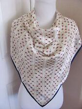 "Amazing Off White Y'Saccs Saccsny Designer 100% Silk Scarf 36"" Inch 92cm Square"