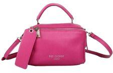 Pink Shoulder Bag Red Cuckoo Cerise Faux Leather Top Handle Grab Bag Handbag