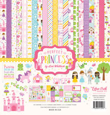 Echo Park PERFECT PRINCESS 12x12 Scrapbook Kit Papers + Stickers Girl Pink