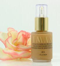 IMAN Second To None Oil-Free Makeup Clay 3 Pump 1 oz Liquid Foundation Matte