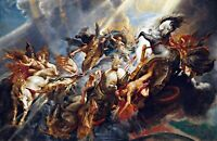The Fall of Phaeton by Peter Rubens. Famous Art Canvas Fantasy.  11x17 Print
