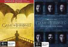 GAME Of THRONES : Season 5 & 6 : NEW DVD