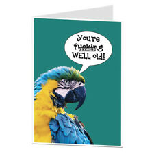 Funny Rude Birthday Card Old Age Joke 40th 50th 60th Him Her Men Boyfriend Wife