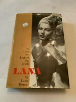 1982 The Lady The Legend The Truth Lana by Lana Turner Hardcover With DJ