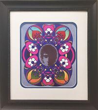 "Peter Max ""Bob Dylan"" 1967 Newly CUSTOM FRAMED Print Art POP psychedelic Folk"