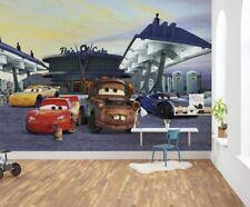Kids room wall mural WALLPAPER Disney Cars 3 station boy's bedroom photo decor