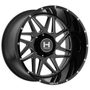 "Hostile H108 Sprocket 22x12 8x170 -44mm Black/Milled Wheel Rim 22"" Inch"