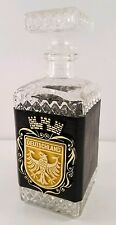 Vintage Italy Liquor Bottle Whiskey with Plastic Leather Look Sleeve German