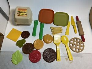 VTG Fisher Price Fun with Food McDonalds Big Mac French Fries Incomplete