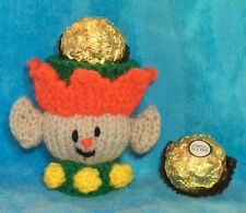 Batman inspired chocolate cover favour fits ferrero rocher KNITTING PATTERN