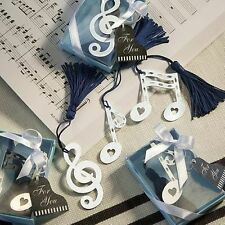 144 - Musical Note Bookmark  - Wedding Favors - Free US Shipping