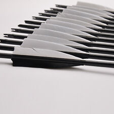 "Spine550 32"" Mixed Carbon Shaft Arrows Archery 8mm With Replace Arrowheads 12pcs"