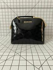NWT MICHAEL KORS CINDY LARGE DOME PATENT LEATHER CROSSBODY BAG