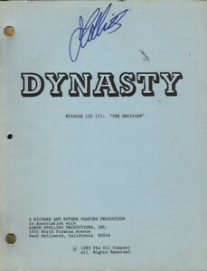 JOAN COLLINS - Original DYNASTY Script - THE DECISION 1985 - PERSONALLY SIGNED