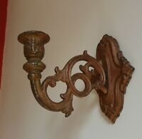 Antique Small Cast Iron Wall Hanging Candle Stick Holder Sconce