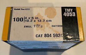 Kodak TMAX 4x5 TMY 100 sheet box Sealed Expired 4/1999