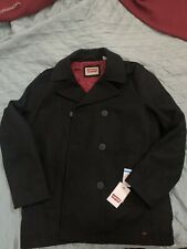 Levis black Pea coat xl new with tags