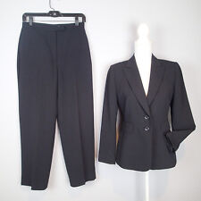 TAHARI PANTS suit,2 PC blazer,jacket,SZ 4P,  BLACK stripes CAREER WORK W9