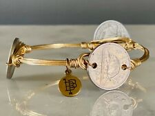 BOURBON & BOWTIES Bangle Bracelet Coin Gold Wired Wrapped