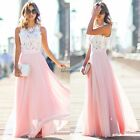 Women Sexy Summer Lace Long Maxi Evening Party Dress Beach Dress Chiffon Dresses