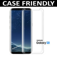 For Samsung Galaxy S8 -100% Full Curved Tempered Glass Screen Protector