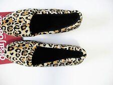 Dearfoams Womens Slip On House Slippers Leopard SM 40086 Sz L (9-10) - New
