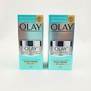 2X Olay White Radiance Light Perfecting Day Cream SPF 24 PA++ Moisturizer 12g