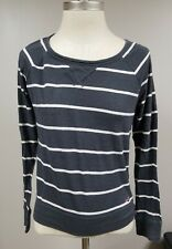 Preowned Hollistershirt size XS girl Junior striped gray and white long sleeve