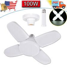 100W LED Garage Light Super Bright Shop Ceiling Light Bulb Deformable E27 Holder