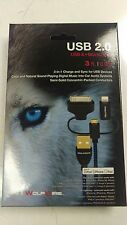 WolfWire USB 2.0 3ft Charge and Sync Cable - USB Iphone/Ipad/Android charger