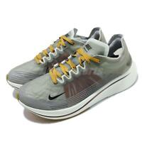 Nike Zoom Fly SP Grey Peat Moss White Mens Running Shoes AJ9282-003
