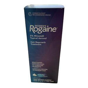 Rogaine, 5% Minoxidil Topical Aerosol Hair Regrowht Treatment 2 Month Supply NIB