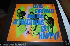 Elvis Costello autographed LP- Vinyl jacket is boldly signed.