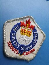 BOY SCOUTS CANADA THE QUEEN'S SILVER JUBILEE 1977 PATCH VINTAGE COLLECTOR BADGE